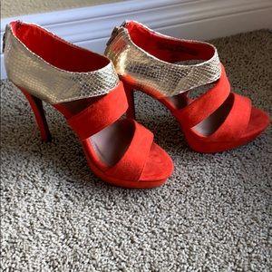 BRAND NEW open toe heels.